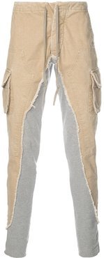 twill-panelled track pants - Neutrals