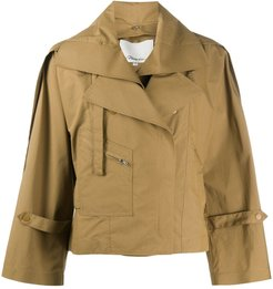 cropped trench coat - Neutrals