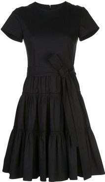 tiered mini dress - Black