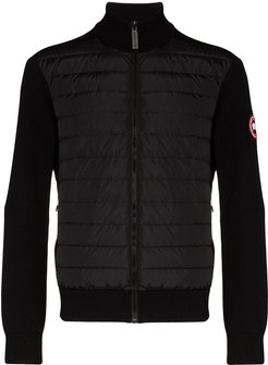 Hybridge wool-panelled padded jacket - Black