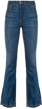 high rise flared leg jeans - Blue