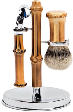 bamboo toilet shaving set - Brown