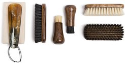travel shoe care set - Brown