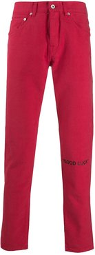 Lunar New Year slim-fit jeans - Red