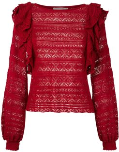 knitted Melissa blouse - Red