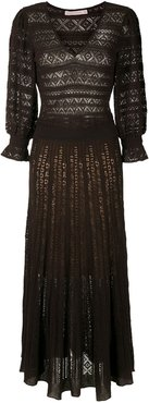 knitted Melody midi dress - Brown