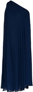 pleated crepe dress - Blue