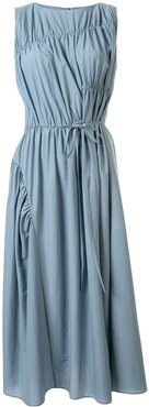 multi-directional ruched shift dress - Blue
