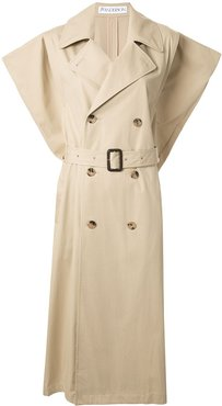 Kite sleeveless single-breasted trench coat - Brown