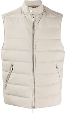 padded fitted gilet - Neutrals