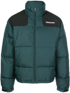 shoulder panel padded jacket - Green
