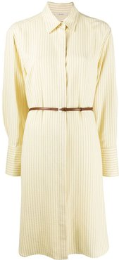 belted shirt dress - Neutrals