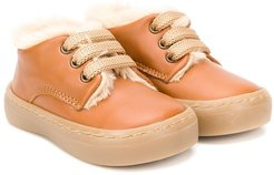 Derby lace up boots - Brown