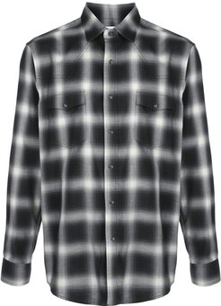 Western ombre check shirt - Black