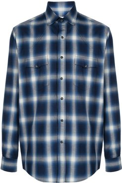 Western ombre check shirt - Blue