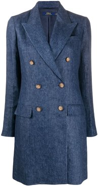double breasted coat - Blue