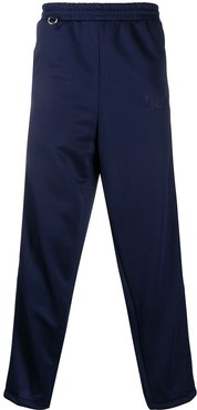 embroidered detail track trousers - Blue