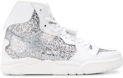 Basket glitter high-top sneakers - White