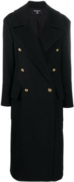 wool and cashmere-blend coat - Black