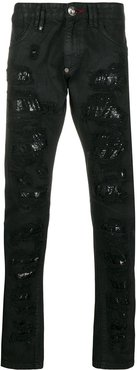 Milano-Cut Destroyed jeans - Black
