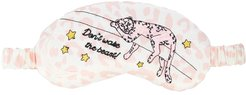 x Atlanta leopard-print eye mask - PINK