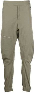 tailored zipped pocket track pants - Green