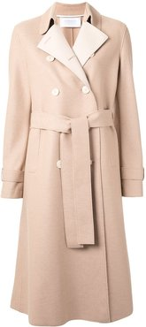 pressed wool trench coat - Brown