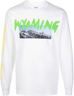 Wyoming long-sleeve T-shirt - White