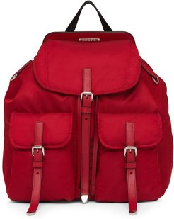 logo plaque backpack - Red