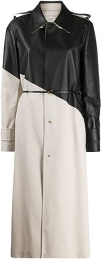 two-tone trench coat - Neutrals