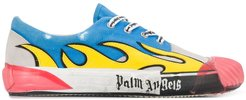 flame low-top sneakers - Blue