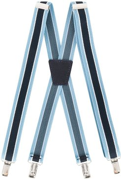 two-tone crossover suspenders - Blue