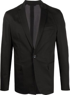 front buttoned blazer - Black