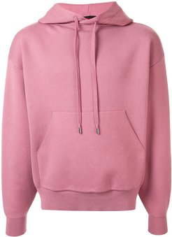 knitted relaxed-fit hoodie - PINK