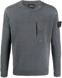 contrasting side panel jumper - Grey