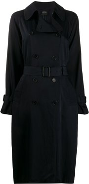 twill trench coat - Blue