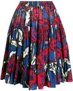 floral print tiered style skirt