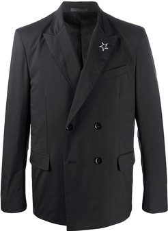 double-breasted STAR jacket - Black