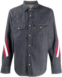 x Levi's striped denim shirt - Blue
