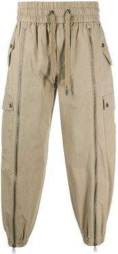loose-fit cargo trousers - Neutrals