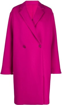 double breasted mid-length coat - PINK