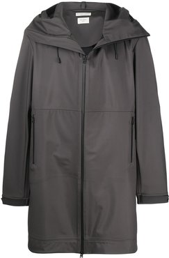 technical hooded coat - Grey