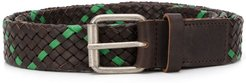 two-tone woven belt - Brown