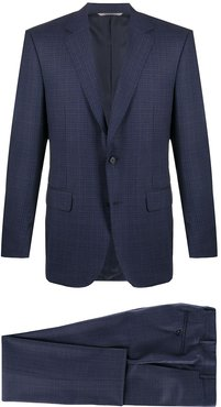 checked two-piece suit - Blue