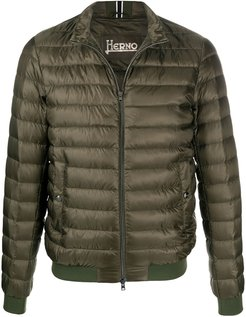 Ultralight quilted bomber jacket - Green