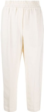 cropped tapered trousers - Neutrals