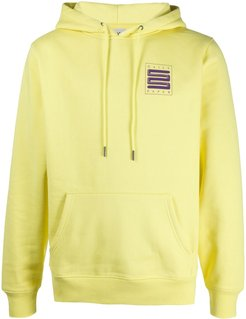 logo embroidered hoodie - Yellow