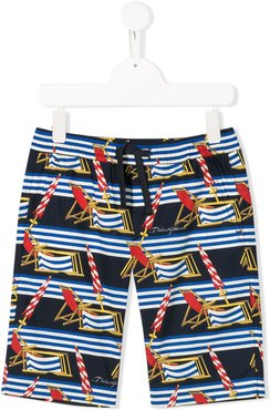 all-over print swim shorts - Blue