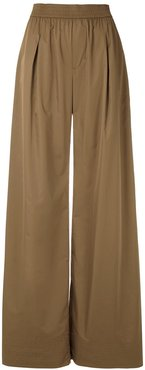Tafetá palazzo trousers - Neutrals