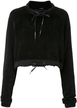 Chenille cropped jumper - Black